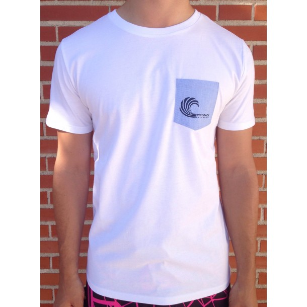 Camiseta Rollback Surf Shop Blanca